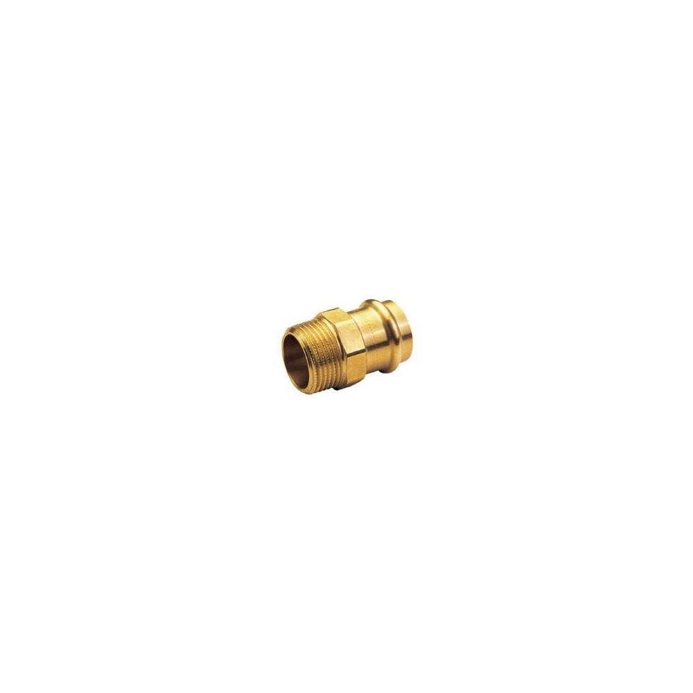 Nypel przejściowy 15x3/4 brąz B Press