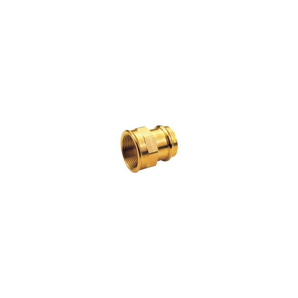 Mufa przejściowa 15x1/2 brąz B Press Gas