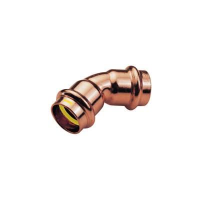 Łuk dwukielichowy 45°  15mm B Press Gas