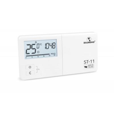 Regulator Temperatury: Tygodniowy, Programowalny, Przewodowy Typ ST-11
