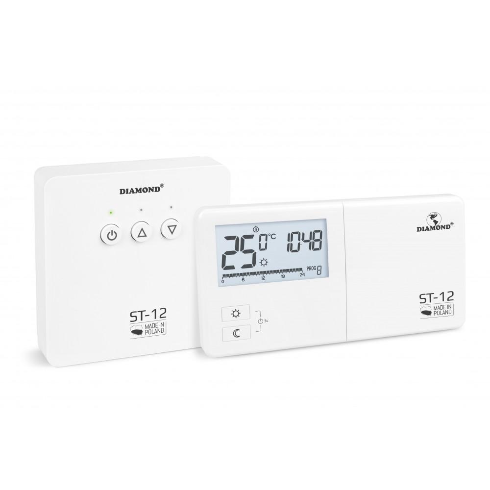 Regulator Temperatury: Tygodniowy, Programowalny, Bezprzewodowy Typ ST-12