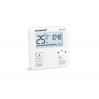 Regulator Temperatury: Tygodniowy, Programowalny, Przewodowy Typ ST-13