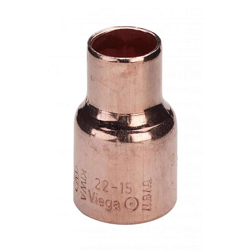 Mufa miedziana redukcyjna 22x15mm
