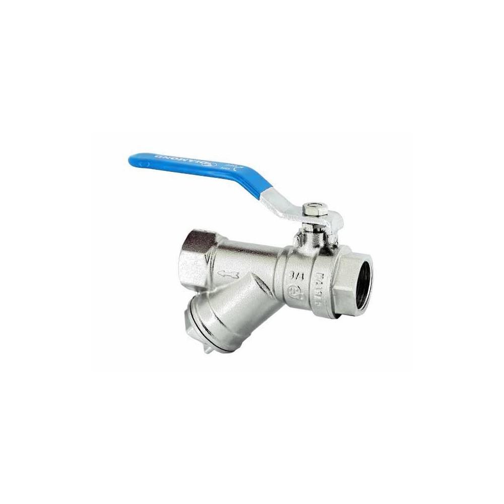 Zawór kulowy z filtrem i dławicą Hiszpan PN30 DN25 1 cal
