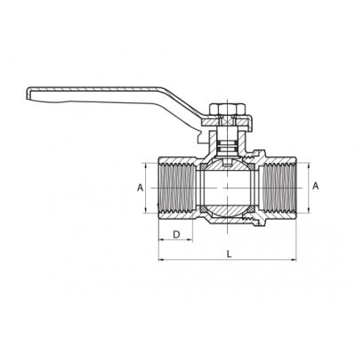 Zawór kulowy do gazu DN20 3/4 cala
