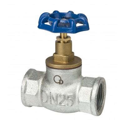 Zawór zaporowy żeliwny ocynkowany DN32 5/4 cala