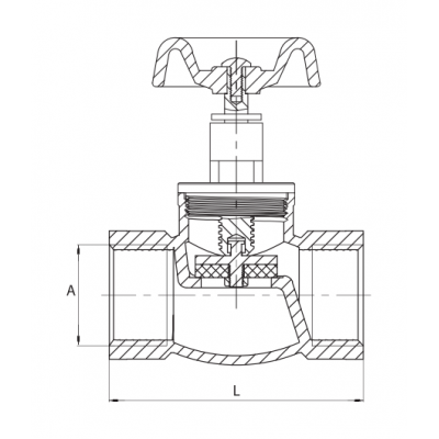 Zawór zaporowy żeliwny ocynkowany DN40 6/4 cala