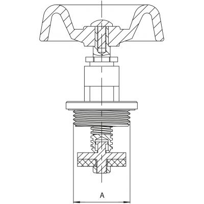 Głowica do zawóru żeliwnego DN20 3/4 cala - część zamienna
