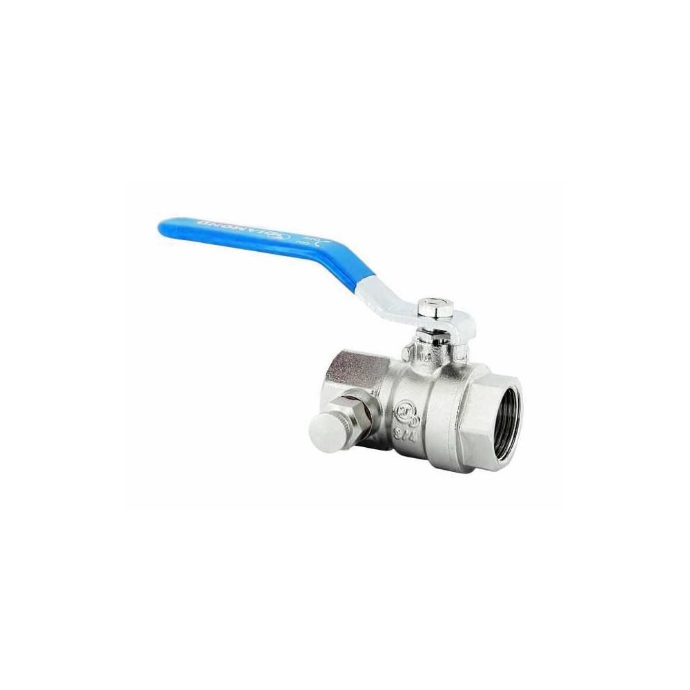 Zawór kulowy z rączką dławicą i odpowietrznikiem PN30 Hiszpan DN15 1/2 cala