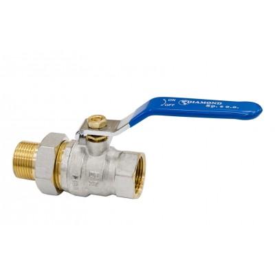 Zawór kulowy z rączką, śrubunkiem i dławicą Hiszpan PN30 DN32 5/4 cala