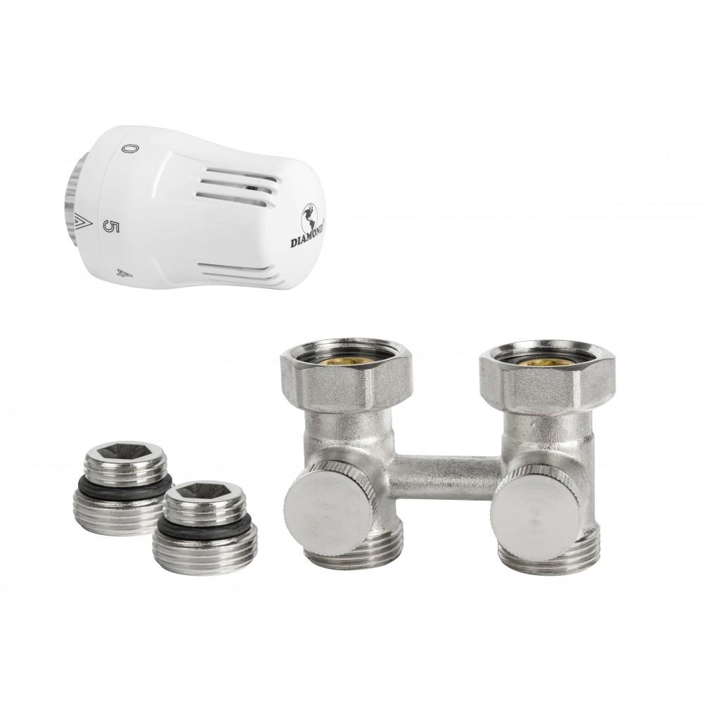 Zestaw termostatyczny do grzejnika typ V  prosty DN15