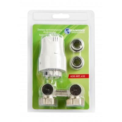 Zestaw termostatyczny do grzejnika typ V  kątowy DN15
