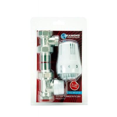 Zestaw termostatyczny prosty DN15