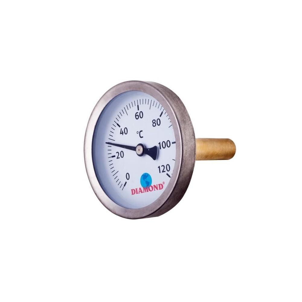 Termometr śr 63 mm 0-120 C, gwint 1/2