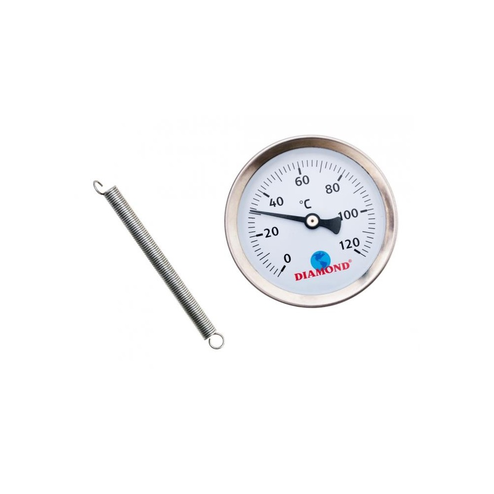 Termometr przylgowy śr 63mm 0-120 C