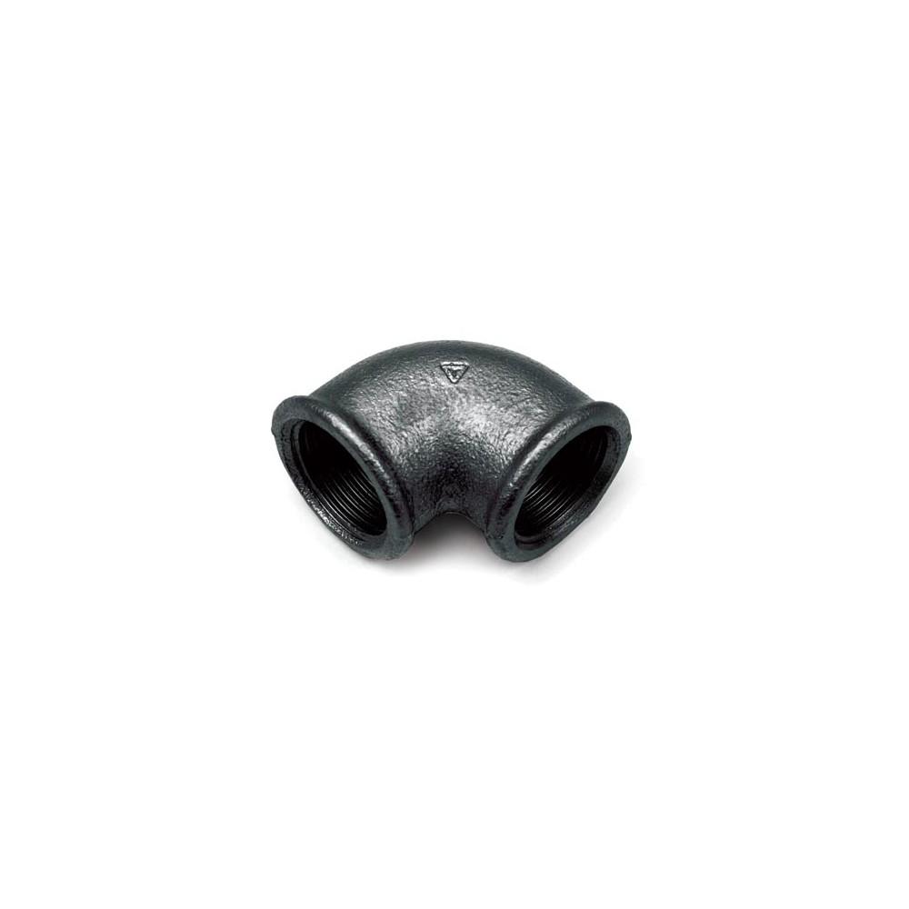 Kolano czarne 1/2 cala DN15