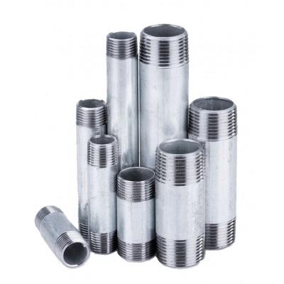 Króciec stalowy ocynkowany gwintowany 1/2 cala L-150mm
