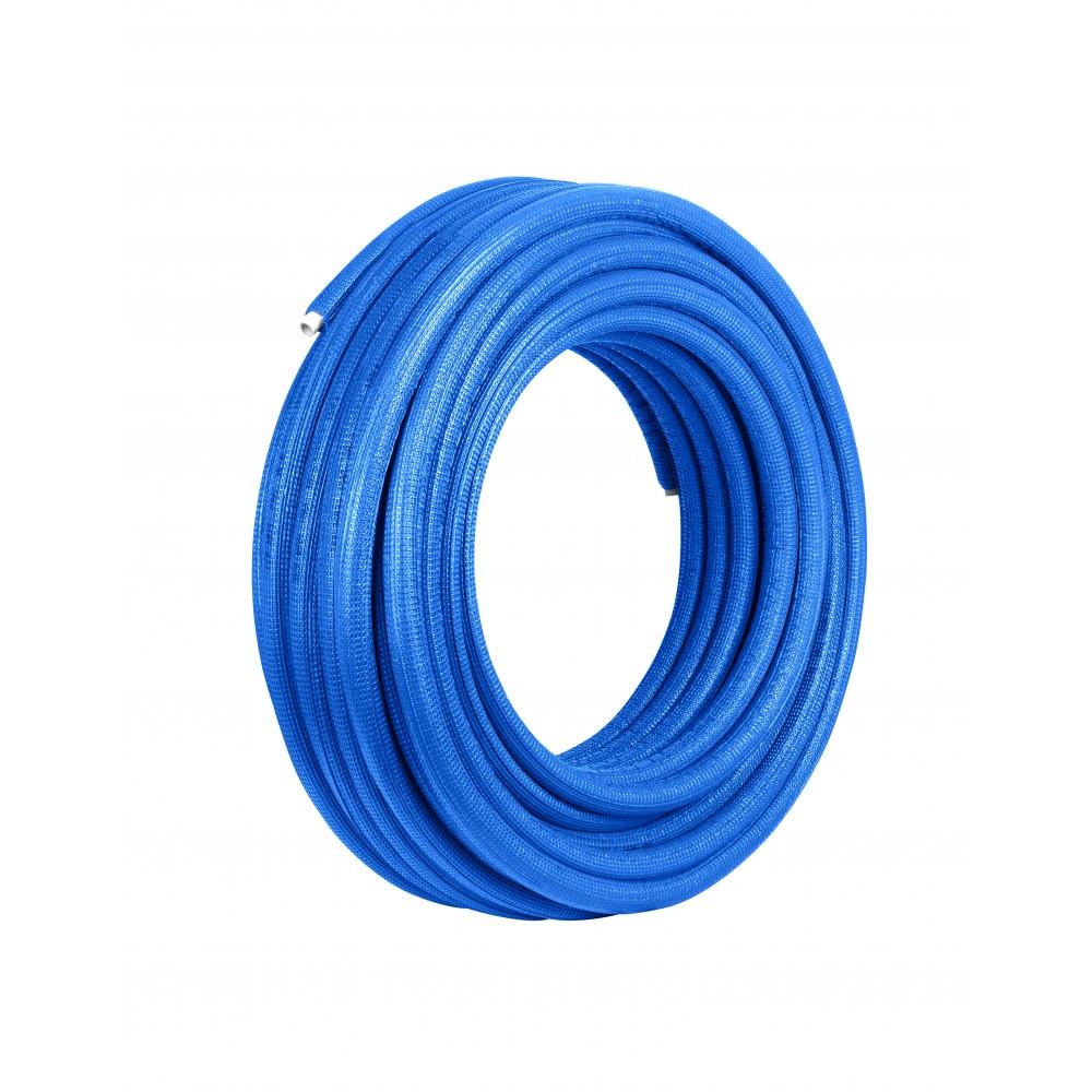Rura Pex/Al/Pex 16 x 2 mm w otulinie niebieskiej 6mm zwój 50mb