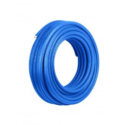 Rura Pex/Al/Pex 20 x 2 mm w otulinie niebieskiej 6mm zwój 50mb