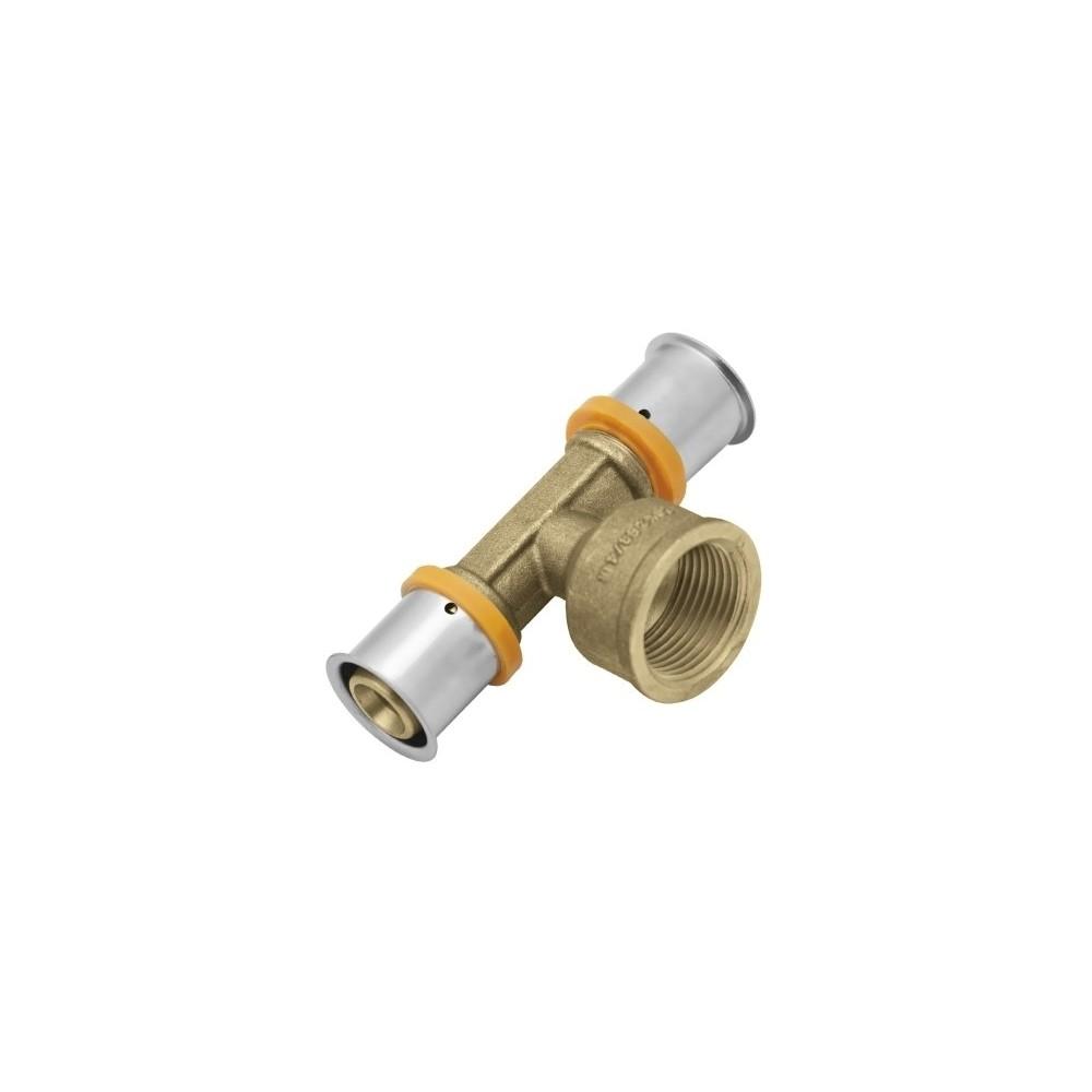"""Trójnik KAN-therm Press z pierścieniem zaprasowywanym z GW 25xG3/4""""x25"""