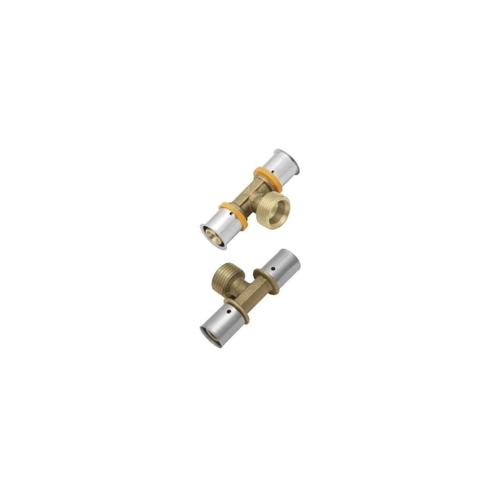 Trójnik KAN-therm Press z gwintem zewnętrznym 16xG1/2x16