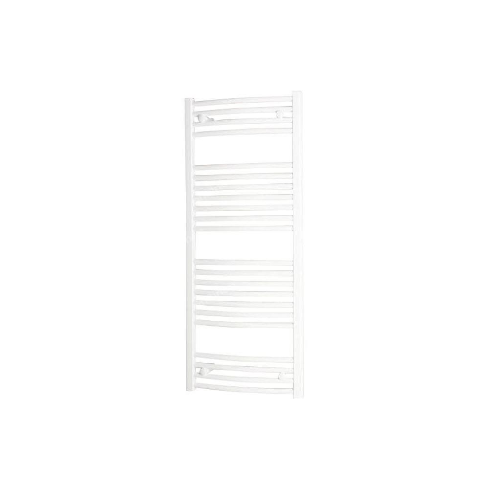 Grzejnik łazienkowy Onnline PBT 80X060 420W łukowy, podłączenie dolne, rozstaw 550mm, biały RAL9016