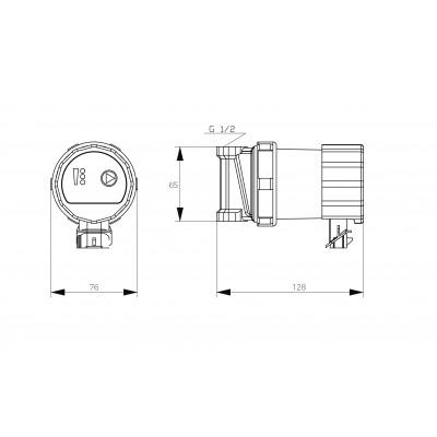 Elektroniczna, energooszczędna pompa cyrkylacyjna C.W.U. 15-15