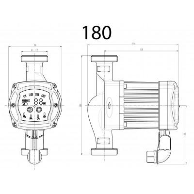 Elektroniczna, energooszczędna pompa c.o. NEWRS 25/40/180mm