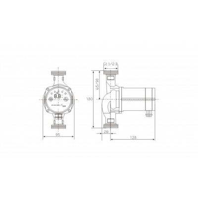 Elektroniczna, energooszczędna pompa c.o. 25-60/180