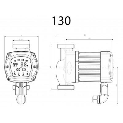 Elektroniczna, energooszczędna pompa c.o. NEWRS 25/40/130mm