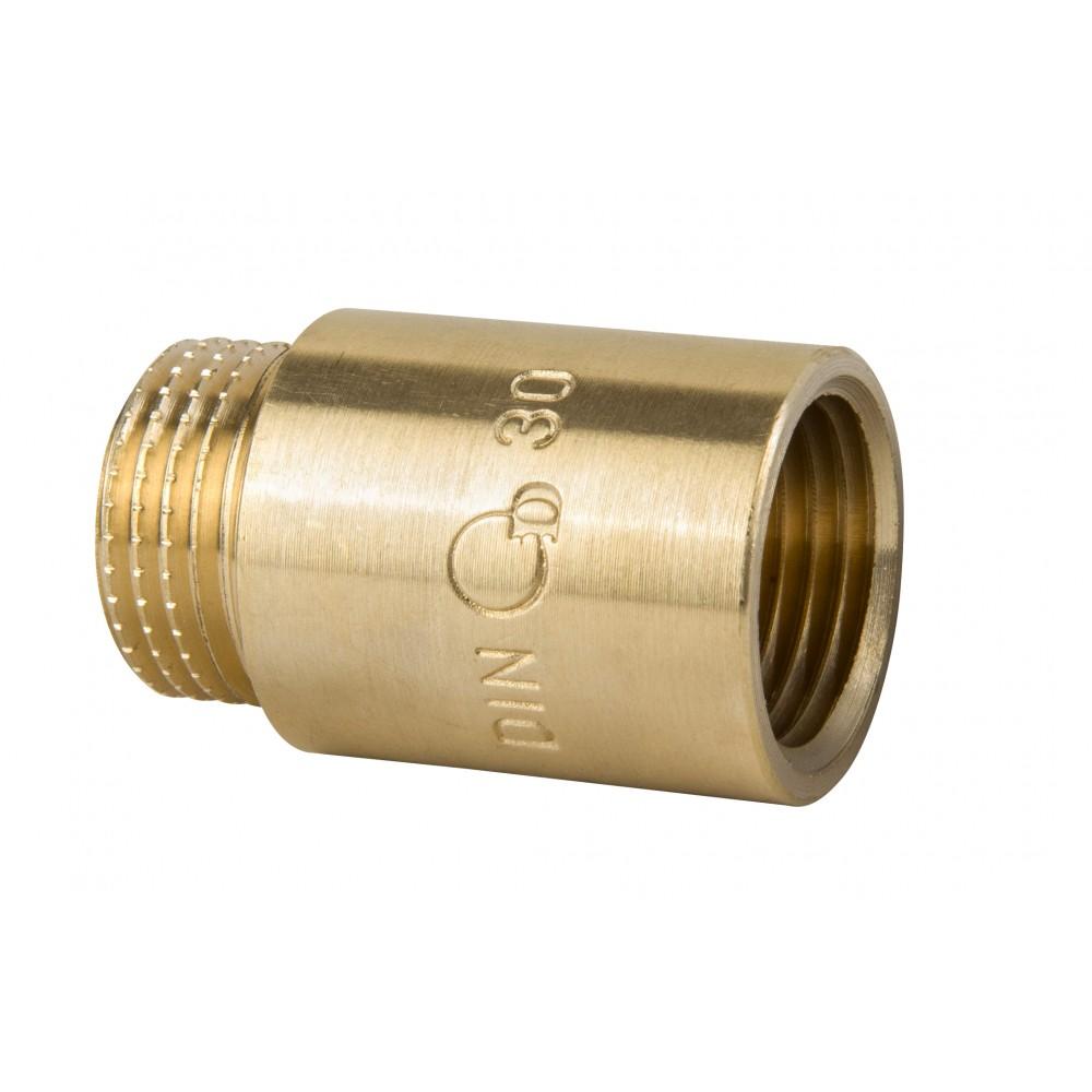 Przedłużka mosiężna 1/2 x 30mm