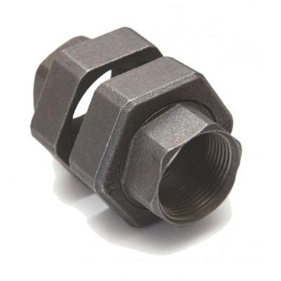 Półśrubunek do pompy czarny DN25x40 1x6/4 cala