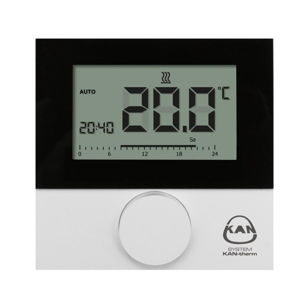 Termostat przewodowy pokojowy z wyświetalaczem ogrzewanie/chłodzenie LCD BASIC+ Control 230V