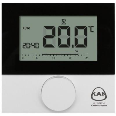Termostat przewodowy pokojowy z wyświetalaczem ogrzewanie/chłodzenie LCD BASIC+ Control 24V