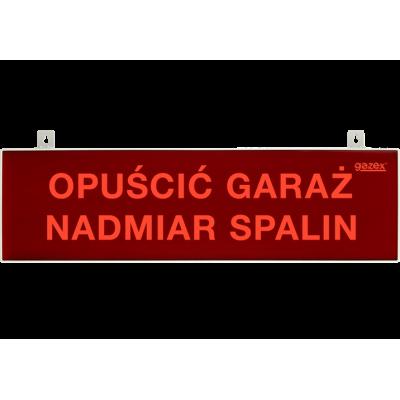 Tablica ostrzegawacza pulsująca, czerwona, napis H3 - NIE WJEŻDŻAĆ NADMIAR SPALIN