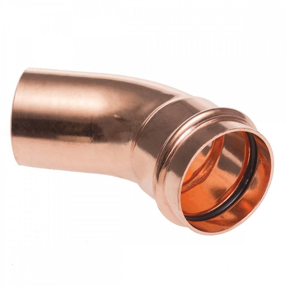 Łuk jednokielichowy 45° 15mm B Press