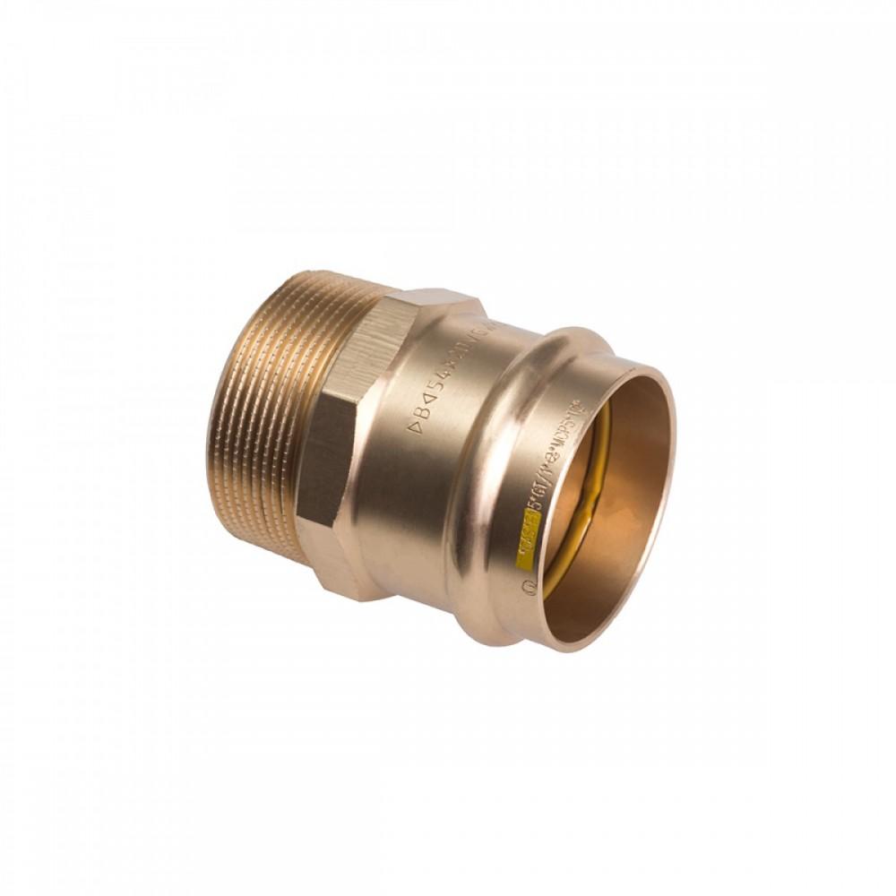 Nypel przejściowy 18x3/4 brąz B Press Gas