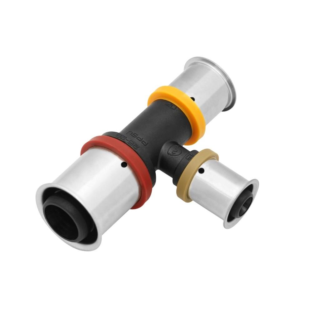 Trójnik KAN-therm Press PPSU z pierścieniem zaprasowywanym 20x25x20